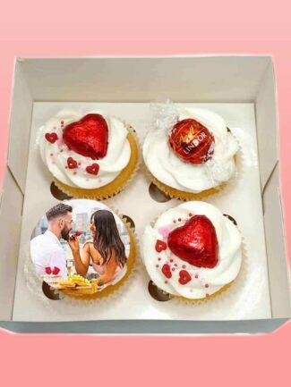 custom image vday cupcakes